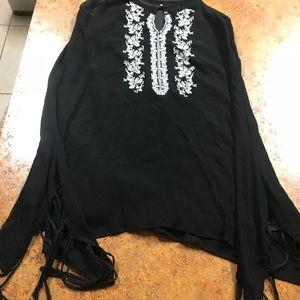 Black white dress med